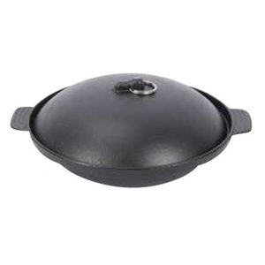 "Cast Iron Mini Casserole Wok, 7"" Dia x 2"" H"